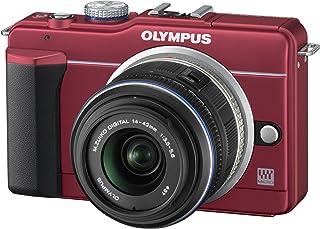 OLYMPUS ミラーレス一眼 E-PL1s レンズキット レッド E-PL1s LKIT RED