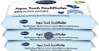 Bübchen Aqua Touch chusteczki nawilżające, chusteczki do pielęgnacji dla noworodków i niemowląt, 99% czystej wody, (3 x 48...