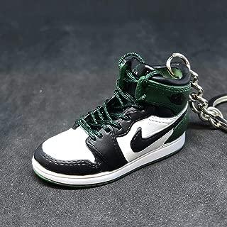 Air Jordan I 1 Retro Boston Green Black OG Sneakers Shoes 3D Keychain 1:6 Figure