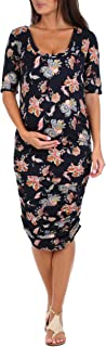Women's Maternity Ruched Dress - Made in USA
