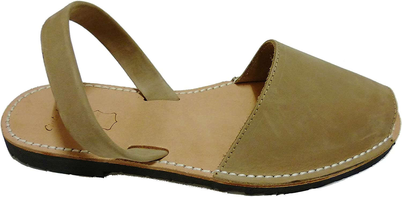 Authentic Menorcan Sandals, color visón Nobuck, Avarcas Menorquínas Abarcas, Albarcas.
