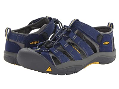 KEEN Kids Newport H2 (Little Kid/Big Kid) (Blue Depths/Gargoyle) Kids Shoes