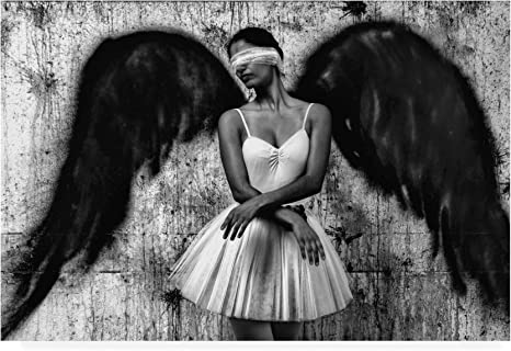Amazon.com: Trademark Fine Art Angel Concrete Blindfold by Paulo Medeiros,  16x24: Home & Kitchen