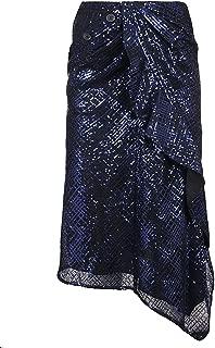SELF-PORTRAIT Luxury Fashion Womens SP23117BLUE Blue Skirt   Fall Winter 19