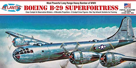 B-29 Superfortress Plastic Model kit Made in The USA Atlantis 1:120 Scale WWII Bomber