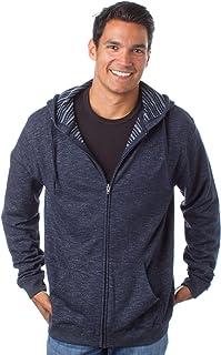 Global Blank Mens Slim Fit Lightweight Hoodie French Terry Zip Up Sweatshirt