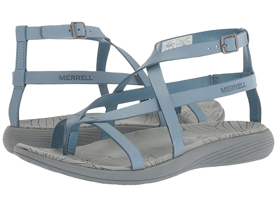 Merrell Duskair Seaway Thong Leather (Blue Heaven) Women