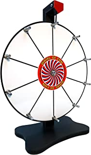 Whirl of Fun Prize Wheel 12 Inch-Whiteboard Tabletop Spinning Wheel with Stand, 10 Slots, Customize, Made in USA