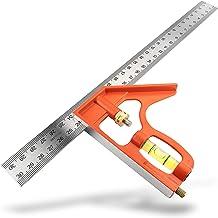 Atlas Armand Edelstahl Kombinationswinkel 300mm – exakter Kombiwinkel für präzise Anwendungen - Anschlagwinkel geeignet für 90 Grad und 45 Grad Messungen - metrisch