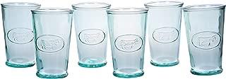 Amici Home, Z7AI4468RS/6, Milk DOF Italian, Set of 6, 11 oz each, 11 fl. oz. Capacity Each, Recycled Green Glass