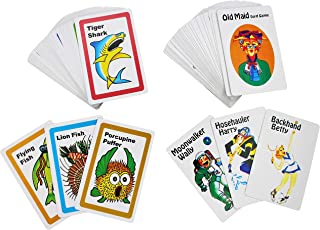 Go Fish and Old Maid Card Games for Kids - Two Classic Vintage Playing Cards Game Set