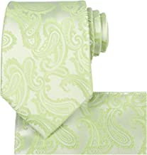 KissTies Mens Extra Long Tie Paisley Pattern Necktie + Gift Box (63'' XL)