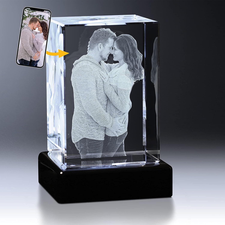 Crystal Impressions 3D Photo 期間限定で特別価格 Gift Custom ギフ_包装 Engrave –
