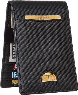 Mens Bifold Wallet Money Clip RFID Blocking Travel Wallet Credit Card Holder