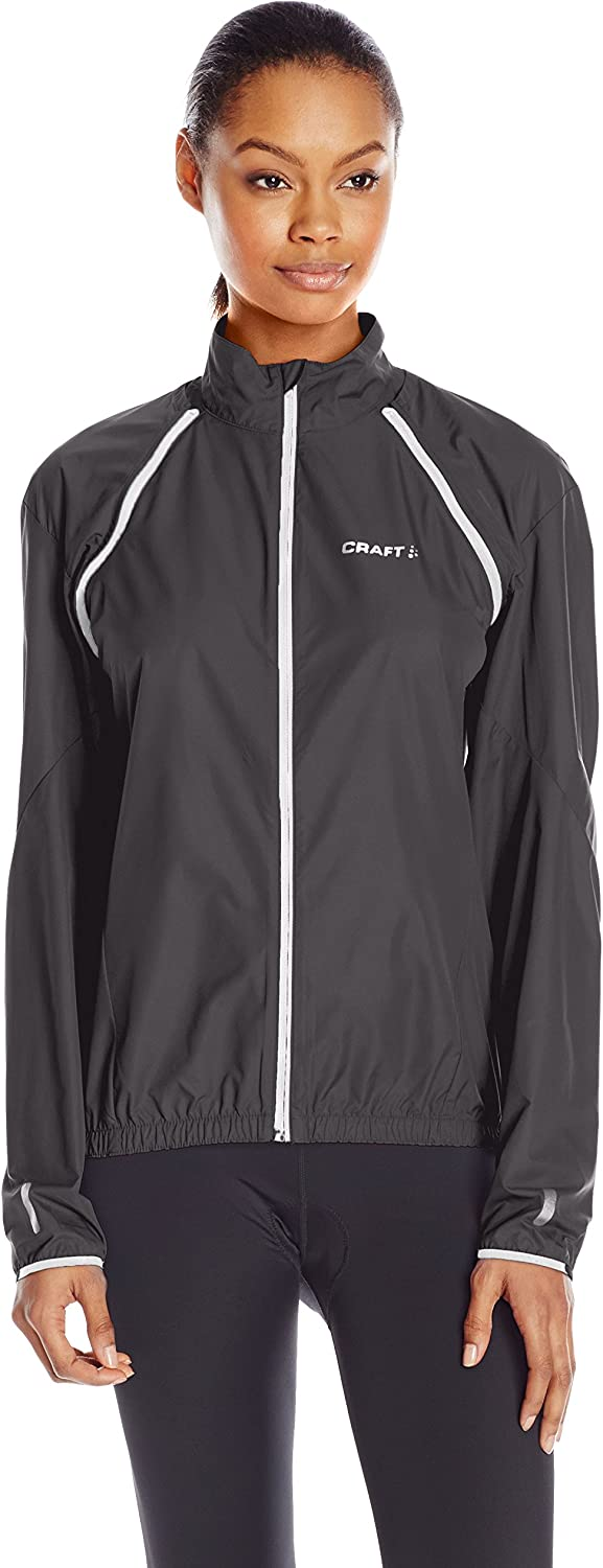 Craft Women's Path Congreen Windpredective and Waterrepellent Jacket with removable sleeves