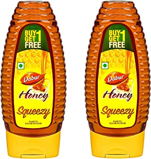 Dabur Honey :100% Pure World's No.1 Honey Brand with No Sugar Adulteration , Squeezy Pack – 400gm (Pack of 2)