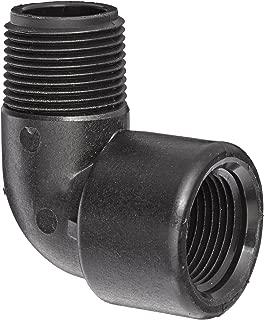 Banjo SL150-90 Polypropylene Pipe Fitting, 90 Degree Street Elbow, Schedule 80, 1-1/2