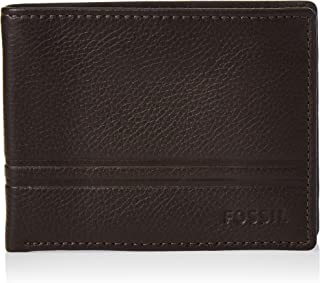 Fossil Men's Wilder Leather Bifold Flip ID Wallet