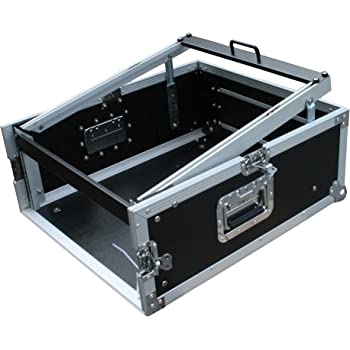 """Winkelrack 3//7//8 HE Winkelcase L-Rack 8 HE Flightcase 19/"""" DJ Mixer Case"""
