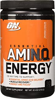 Optimum Nutrition Amino Energy, Orange Cooler, 30 Serving