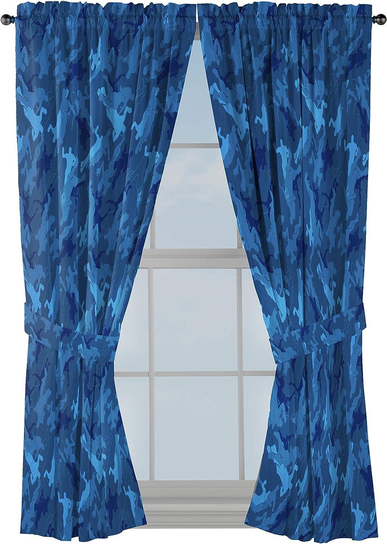 4. Fortnite Emote Camo Curtain Drapes - 4 Piece Set