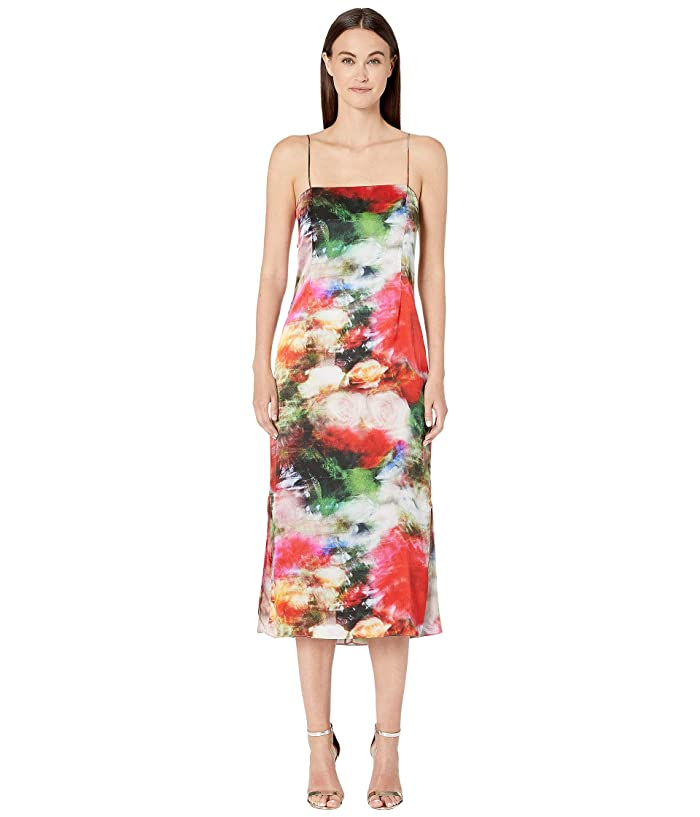 Adam Lippes Printed Hammered Silk Cami Dress (Multi Floral) Women's Dress