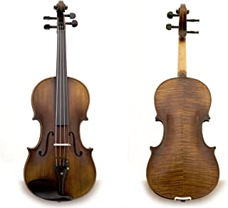 Sky Guarantee Mastero Sound Copy of Stradivarius 4/4 Size Professional Hand-made 4/4 Full Size Two-Piece Back Acoustic Violin Unique Antique Style ALL Ebony Parts