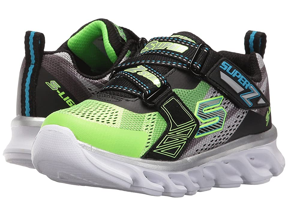 SKECHERS KIDS Hypno Flash 90580L Lights (Little Kid) (Lime/Black) Boys Shoes