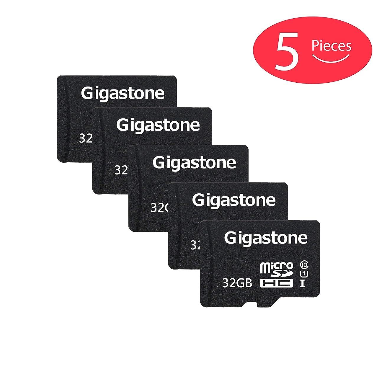 Gigastone Micro SD Card 32GB 5-Pack Micro SDHC U1 C10 with Mini Case High Speed Memory Card Class10 Uhs Full HD Video Nintendo Gopro Camera Samsung Canon Nikon DJI Drone - Black