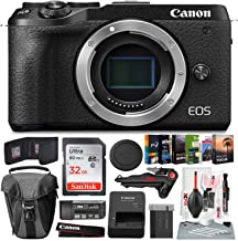$879 » Canon EOS M6 Mark II Mirrorless Digital Camera (Black, Body Only) + Case, 32GB Memory Card, Memory Card Wallet, Xpix USB Reader, Xpix Tripod, Photo Editing Software & Xpix Deluxe Cleaning Accessories