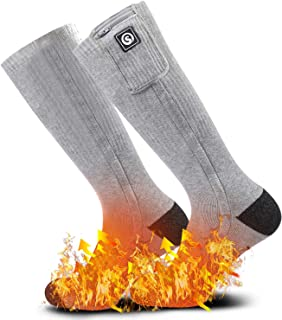 Heated Scoks for Women Men,Foot Warmers Electric Rechargable Battery Heating Socks,Winter Cold Feet Hunting Ski Camping Hiking Riding Motorcycle Snowboating Thermal Warm Socks