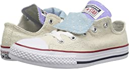 Chuck Taylor® All Star® Double Tongue Star Perf Canvas Ox (Little Kid/Big Kid)