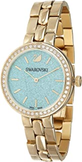 Swarovski Dress Watch Analog Display For Women 5182212, Gold Band