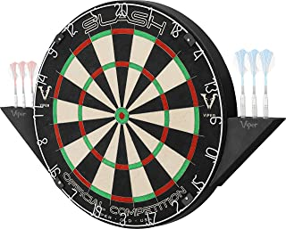 Viper Slash Official Competition Bristle Steel Tip Dartboard Set with Staple-Free Ultra-Thin Metal Wiring to Increase Score, Self-Healing Professional-Grade African Sisal Board, Magnetic Dart Holders