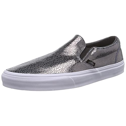 34e35130ebf91f Vans Unisex Cracked Metallic Classic Slip-On Sneaker