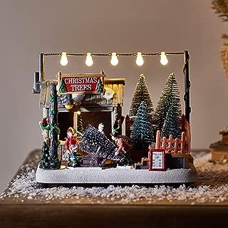 Lights4fun, Inc. Battery Operated LED Light Up Christmas Tree Shop Village Decoration