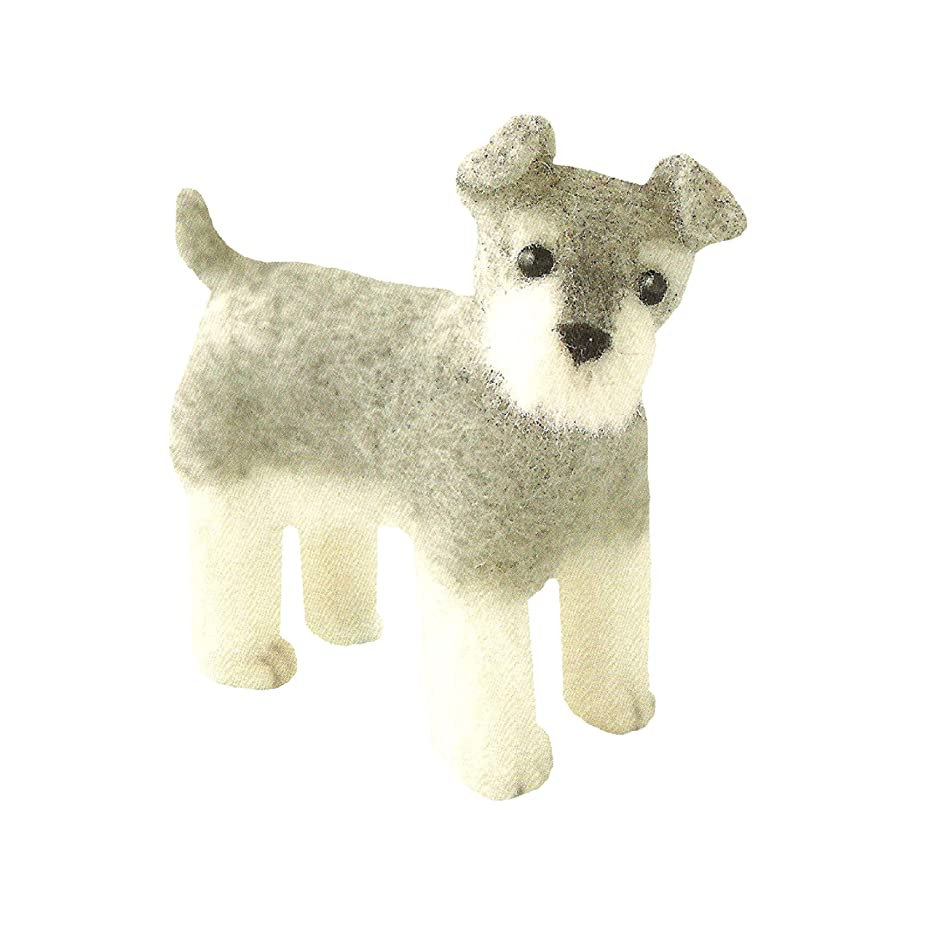 Cool Beans Boutique Wool Felting DIY Kit – Miniature Schnauzer (with English Instructions) – Imported from Japan WFKit-HM-05Schnauzer-2