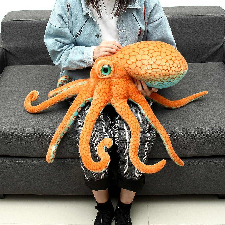 LaDicha 80CM Huge Funny Cute Octopus Squid Stuffed Animal Soft Plush Toy Doll Pillow Gift