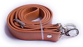 Wento 1pcs 43''-49'' Pu Camel Leather Adjustable Bag Strap,soft Leather Shoulder Straps,replacement Cross Body Purse Straps,handbag Bag Wallet Straps (Silver)