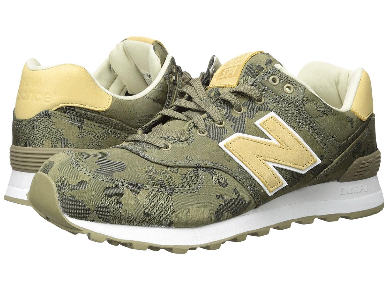 (ニューバランス) New Balance メンズランニングシューズ?スニーカー?靴 ML574 - Camo Covert Green/Toasted Coconut グリーン 7.5 (25.5cm) D