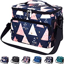 Leakproof Reusable Insulated Durable Cooler Lunch Bag - Office Work School Picnic Beach Lunch Box with Adjustable Shoulder Strap for Women,Men-Triangle