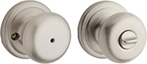 Kwikset Juno Bedroom/Bathroom Privacy Door Knob with Microban Antimicrobial Protection in Satin Nickel