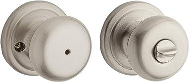Kwikset Juno Bedroom/Bathroom Privacy Door Knob with Microban Antimicrobial Protection in Satin Nickel