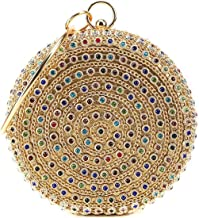 HARPIMER Mujer Monedero de embrague de bolso de noche de cristal de diamantes de imitación multicolor para boda y fiesta