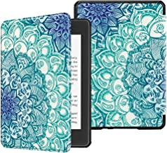 Fintie Slimshell Case for All-New Kindle Paperwhite (10th Generation, 2018 Release) - Premium Lightweight PU Leather Cover with Auto Sleep/Wake for Amazon Kindle Paperwhite E-Reader, Emerald Illusions