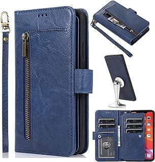 جراب محفظة به 9 فتحات للبطاقات متعددة الوظائف iPhone XS Max ازرق
