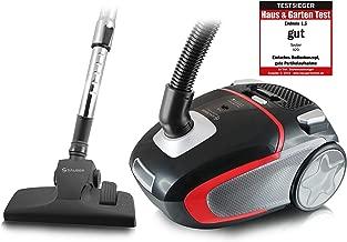 Sauber V20 - 真空吸尘器(A,圆柱,黑色,红色,银色,灰尘袋,伸缩,橡胶)