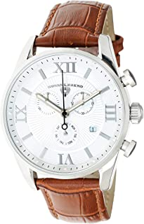 Swiss Legend Men's Belleza Analog Swiss Quartz Watch White Dial and Silver Stainless Steel Case with Brown Leather Strap 22011-02-BR
