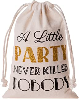 Memory Journey Bachelorette Party Favor Bags,Gatsby Wedding Welcome Recovery Party Favor Muslin Gift Groomsmen Bachelor Bridesmaid Bridal,Emergency Kit Favor Bag - A Little Party Never Killed Nobody