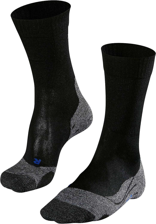FALKE Mens TK2 Cool Hiking Socks - Anti Blister, In Blue or Grey, US sizes 6.5 to 13.5, 1 Pair